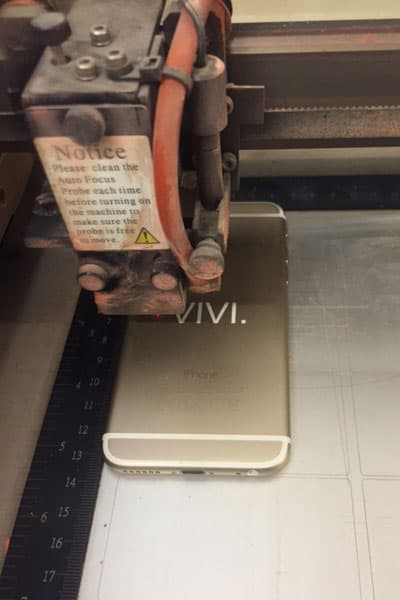 Smartphone lasergravering