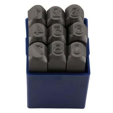 Slagstempel typer bogstaver 600 x 600