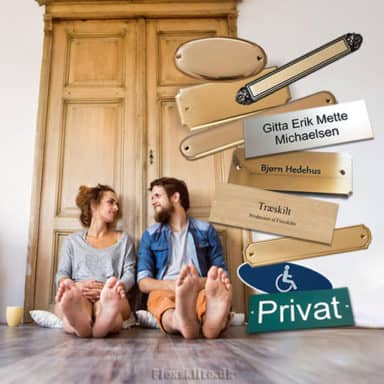 Køb navneskilte og dørskilte og design dit skilt online