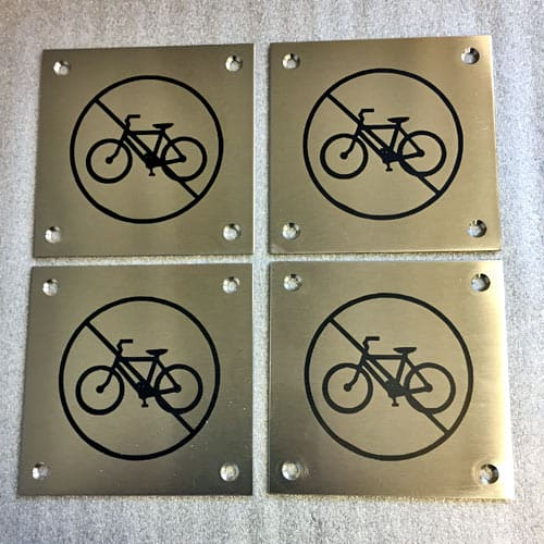 Ingen cykler skilte