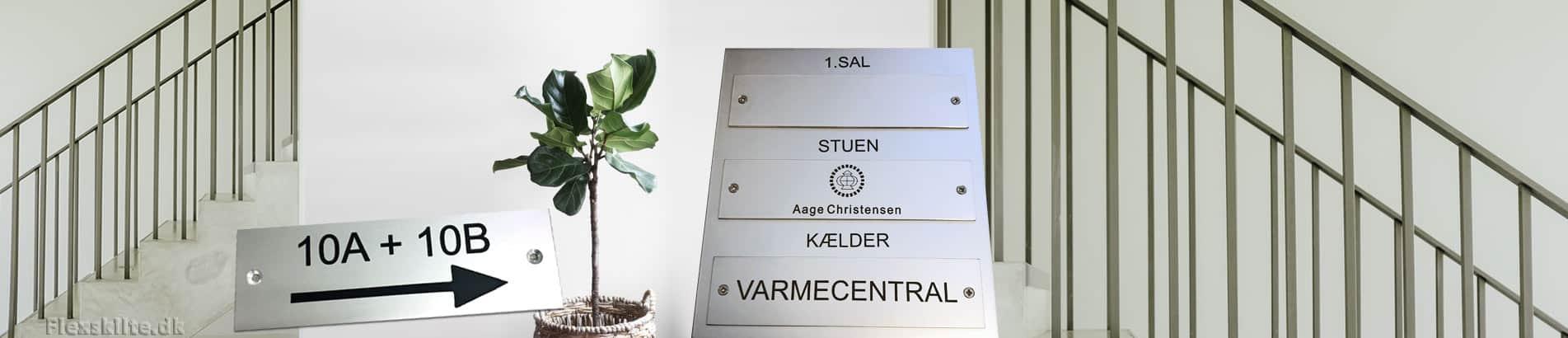 Aluminium skilte til privat hus, hoteller, erhverv