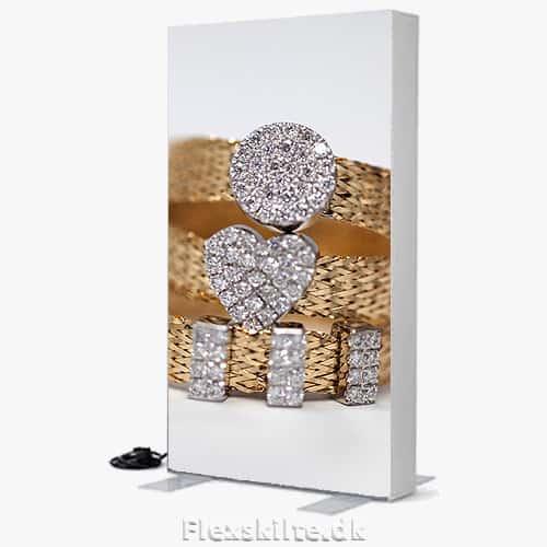Tekstilramme led lightbox skilt med lys